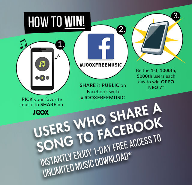 JOOX x OPPO - Share and Win!
